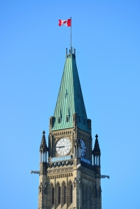 Parliament Hill building closeup in Ottawa, Canada